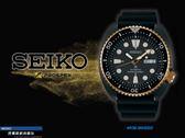 【時間道】SEIKO PROSPEX經典潛水機械腕錶/黑面黑金圈黑膠帶(4R36-06H0SD/SRPC48J1)免運費
