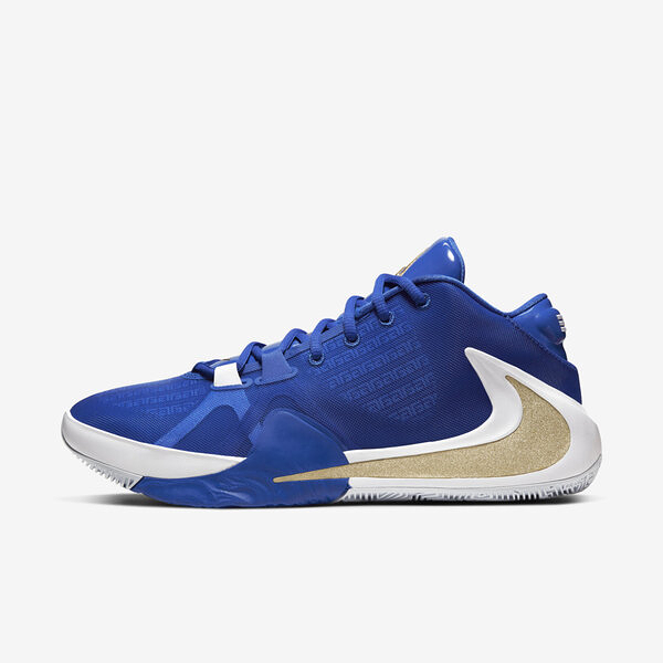 Nike Zoom Freak 1 EP [BQ5423-400] 男鞋 運動 籃球 氣墊 避震 靈敏 經典 穿搭 藍金