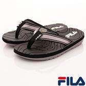 FILA 兒童 夾腳拖鞋 運動涼拖鞋 2-S434R-041 黑 [陽光樂活]