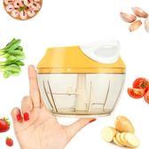 【PUSH!廚房用品】加厚抗摔杯體手拉蒜泥器(升級款黃色)D161-1黃色