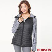BOBSON 女款花紗針織連帽外套 (37103-88)