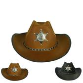 牛仔帽節日演出帽西部牛仔帽子沙灘遮陽旅游帽男女兒童五角星帽子警長帽 春季新品