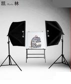 LED小型攝影棚攝影燈套裝補光燈拍攝拍照燈常亮柔光燈箱簡易道具大型產品證件拍照相 NMS小明同學
