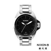NIXON 手錶 原廠總代理 A396-000 ANTHEM 銀黑雙色 潮流時尚鋼錶帶 男女適用 運動 生日 情人節禮物