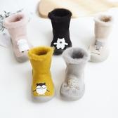 嬰兒鞋襪秋冬加厚加絨毛圈襪套兒童軟底防滑地板襪寶寶冬天學步襪