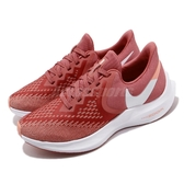 Nike 慢跑鞋 Wmns Air Zoom Winflo 6 紅 白 女鞋 運動鞋 氣墊 【ACS】 AQ8228-800