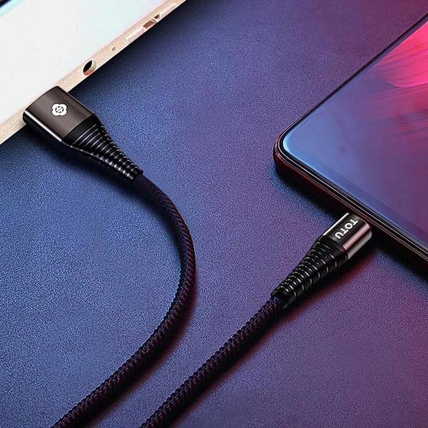【南紡購物中心】【TOTU】安卓MicroUSB充電線傳輸線編織線 2.4A快充 勁彩 1M