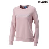 K-Swiss Crew Neck Sweatshirt圓領長袖上衣-女-粉紅