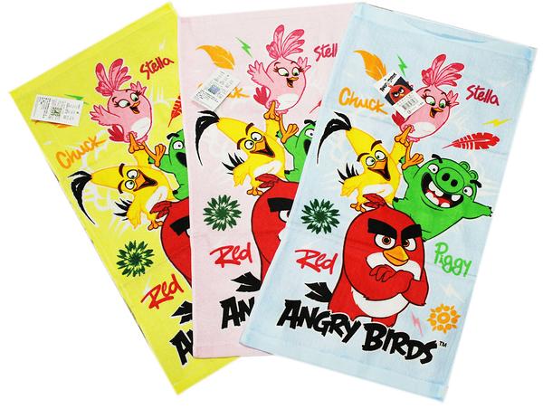 【卡漫城】 憤怒鳥 小毛巾 三條一組 淺色 ㊣版 豬 Pig 搗蛋豬 Angry birds 童巾 洗臉巾 紅鳥 台灣製