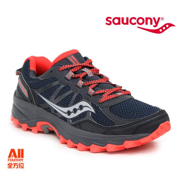 【Saucony】女款慢跑鞋 GRID EXCURSION TR11 戶外越野 -黑紅色(103929)全方位跑步概念館