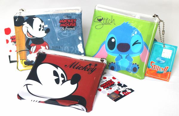 【卡漫城】 防水 零錢包 三選一 ㊣版 Mickey 米老鼠 史迪奇 米奇 收納包  星際寶貝 Stitch 票卡包