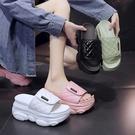 涼拖2021年新款女夏季厚底內增高時尚個性懶人鞋外穿網紅一字拖鞋 蘿莉新品