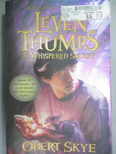 【書寶二手書T7/原文小說_OCI】Leven Thumps and the Whispered Secret_Skye