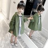 限定款厚外套 女童外套秋裝快速出貨免運正韓兒童中長版風衣小女孩春秋裝時尚大衣潮