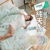 『多款任選』奧地利100%TENCEL40支涼感純天絲5尺標準雙人床包枕套+舖棉涼被組/床單 空調被 四季被