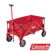 【美國Coleman】四輪拖車 野餐車 折疊式裝備拖車 露營手推車 購物收納車 菜籃車 手拉折疊車CM-21989