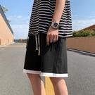 針織短褲男潮流夏季外穿休閑五分褲寬松直筒運動中褲夏天沙灘褲