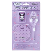 小禮堂 酷洛米絨毛玩偶拍照道具組 玩偶展示架 玩偶擺拍 (紫 櫻桃) 4550337-17412