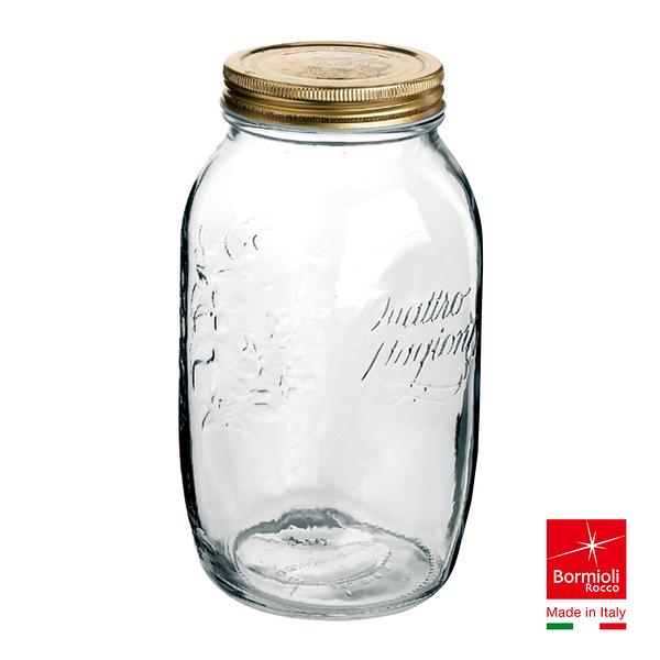 義大利Bormioli Rocco 四季果醬圓罐(1.5L) 密封罐 飲料罐 儲物罐 重複使用 保鮮 好生活