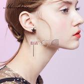 耳環 冷淡風星星長款耳環女顯臉瘦時尚耳墜幾何耳飾韓國氣質耳線 數碼人生