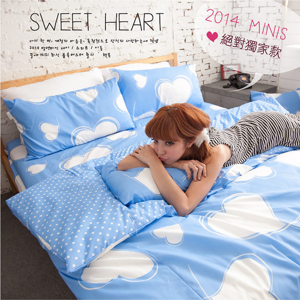 MiNiS 雙人床包三件組 100%磨毛超細纖維 早春新品獨家販售 台灣製