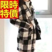 毛呢大衣-亮麗秋冬羊毛女長版外套1色62k12【巴黎精品】
