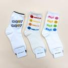 韓國襪子 微笑英文字 女襪 長襪 休閒襪 學生襪