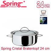 【瑞士Spring】CRISTAL多層複合金雙耳湯鍋-24cm(855