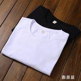 夏季t恤男純棉短袖韓版修身純色潮流圓領學生半袖體恤衫 YC907【雅居屋】