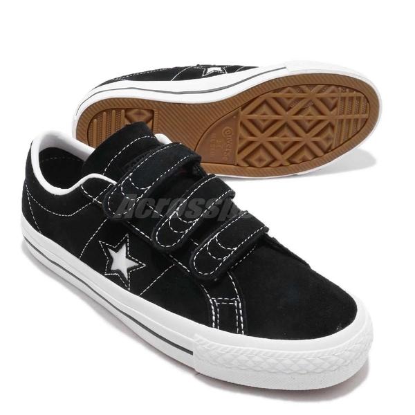 Converse 休閒鞋 One Star Pro 3V OX 黑 白 麂皮 魔鬼氈 一星 男鞋 女鞋 運動鞋【ACS】 162518C