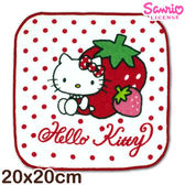 凱蒂貓純棉小手巾 草莓款 台灣製 Sanrio