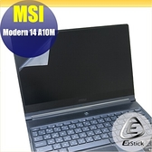 【Ezstick】MSI Modern 14 A10M 靜電式筆電LCD液晶螢幕貼 (可選鏡面或霧面)