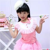 女童裝 公主裝蕾絲蝴蝶結上衣(粉紅) 童裝 魔法Baby