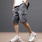 夏季潮牌牛仔短褲男士寬松大碼外穿薄款中褲馬褲潮流工裝五分褲子