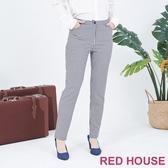 【RED HOUSE 蕾赫斯】格紋修身褲(藍色)