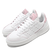adidas 休閒鞋 Supercourt W 白 粉紅 女鞋 復古 麂皮設計 運動鞋 【ACS】 FV9709