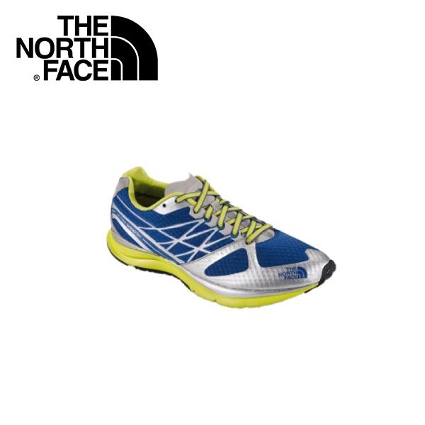 【The North Face 男 越野跑鞋《潛水藍/金屬銀》】C574-U7A/輕量/反光條/路跑鞋/慢跑鞋