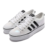 adidas 休閒鞋 Nizza Platform W 白 珠光 三葉草 小白鞋 女鞋 愛迪達 【ACS】 H04224
