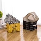 棉麻布藝辦公桌面收納盒