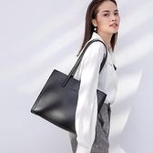 公文包 公文包女大容量2021新款韓版百搭簡約手提職業單肩大包包女托特包 歐歐