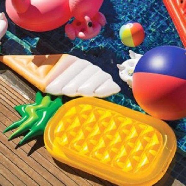 免運★梨卡 - 絕美鳳梨浮圈浮床游泳圈救生圈 - 歐美暢銷另售獨角獸白天鵝黑天鵝彩虹馬浮板M075