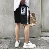 夏季ins超火的短褲男褲子韓版潮流港風百搭寬鬆五分褲ulzzang馬褲-Ifashion