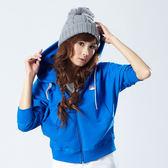 【101原創】設計款連帽外套寶藍(女)-2116009