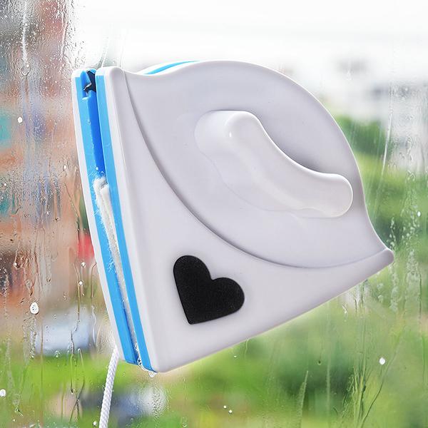 【超取399免運】經濟型三角形雙面磁性玻璃擦窗器 多功能玻璃清潔器 (顏色隨機出貨)