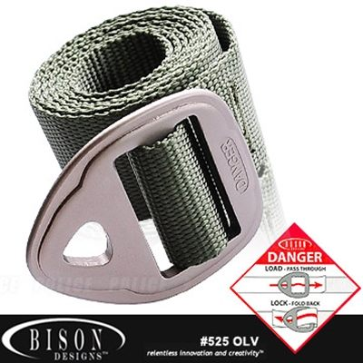 BISON Danger Belt 腰帶# 525OLV【AH24058】99愛買生活百貨
