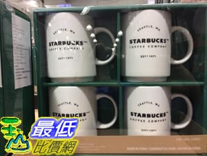 [COSCO代購] C1119327 STARBUCKS STACKING MUG 4PC 陶瓷馬克杯四件組 單個容量414毫升/14OZ