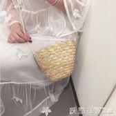 草編包2018新款學生女包編織包沙灘包包側背包斜背小草包手包 愛麗絲精品