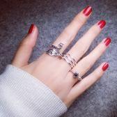 s925戒指女日正韓潮人創意復古夸張開口孔雀可調節食指指環女 七夕節大促銷