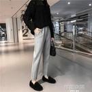毛呢哈倫褲子女厚秋冬高腰寬松蘿卜褲休閒小腳直筒顯瘦加絨奶奶褲 韓語空間