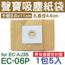 EC-06P 聲寶吸塵器集塵紙袋 for...